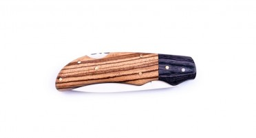 Folding Corsica knife with wooden case
