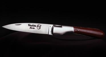 Corsican handmade knife La Vendetta Zuria Classic in snakewood