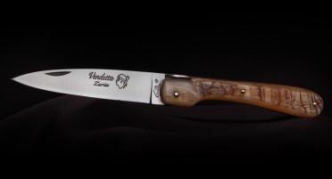 Couteau Vendetta Zuria Corne de bélier - Plein Manche