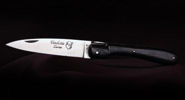 Vendetta Zuria Ebony Knife - Full Handle