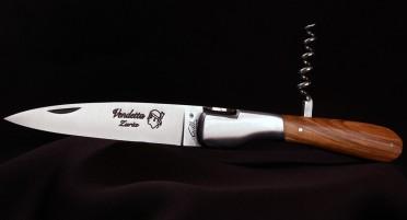 Couteau Vendetta Zuria Olivier -  Tire-bouchon