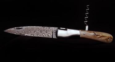 Couteau Vendetta Zuria Damas Corne de Bélier - Tire-bouchon