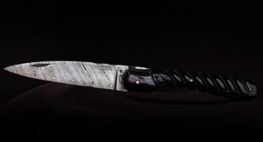Couteau Vendetta Zuria Damas Corne de Buffle ciselé - Plein manche
