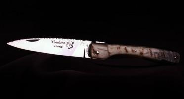 Couteau Vendetta Zuria Corne de Bélier - Finition Polyglass - Plein manche