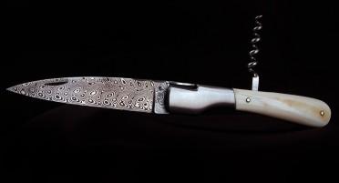 Couteau Vendetta Zuria Damas Dent de Phacochère - Tire-bouchon