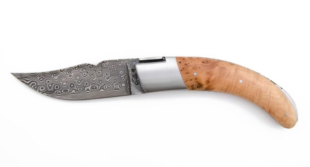 Knife Corsica Rondinara - Juniper and Damascus
