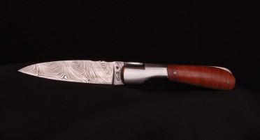 Couteau Le Pialincu en Bruyère et lame Damas
