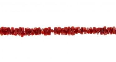 Collier en Corail rouge de Bonifacio et fermoir en Or jaune
