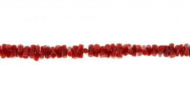Bonifacio red coral necklace and yellow gold clasp