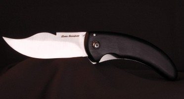 Handmade Cursina knife in Corsica. Ebony handle - Liner Lock system