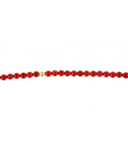 Collier Perles Corail, Perles Or Coupelle
