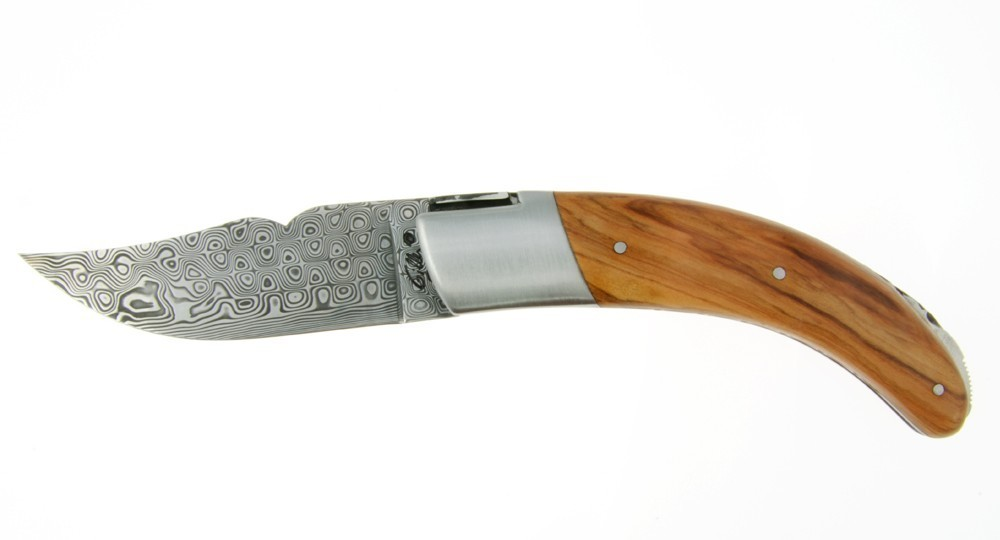 Corsican knife The Rondinara - Olive and Damascus