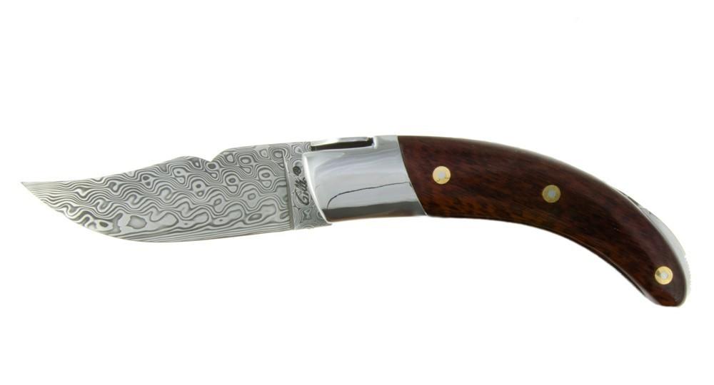 Couteau Corse Le Rondinara - bois d'Amourette et Damas