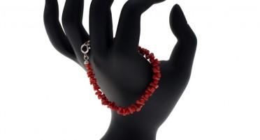 Bonifacio Coral Bracelet - Silver Clasp