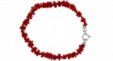 Bracelet en Corail de Bonifacio - fermoir en Argent