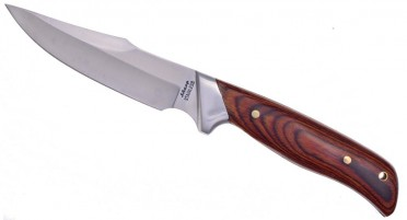 Sharp hunting knife with fixed blade
