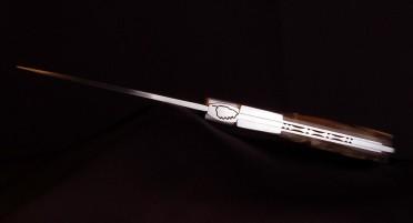 Couteau Corse Sperone Classique Corne de Bélier Brut