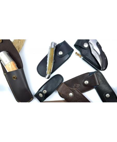 Cadeau de Noël : Etui ceinture pour couteau Corse pliant