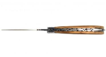 Couteau pliant imaginé en Corse avec ressort finement guilloché