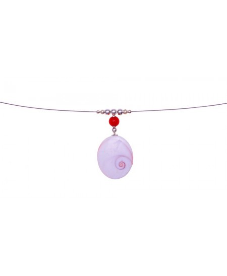 Collier Perle Corail, Ste Lucie, Argent
