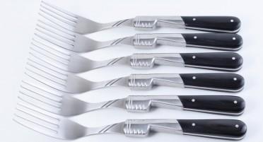 Coffret de 6 fourchettes en Stamina noir