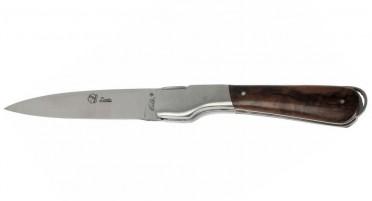 Couteau Corse artisanal avec manche en bois de Noyer