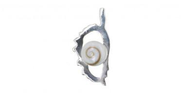Pendentif en forme de Corse en Argent et œil de Shiva