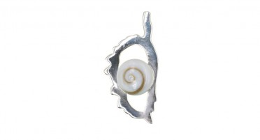 Pendant in the shape of Corsica in Silver and eye of Shiva