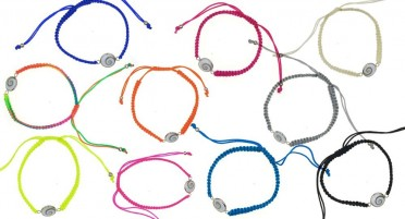 Corsican bracelet in braided thread with round Shiva eye