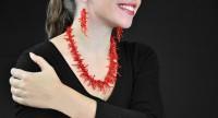 Parure bijoux en Corail - 2 pièces