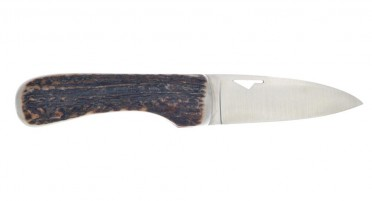 "Knife Designed in Corsica and ""handmade"" U Cumpà deer wood handle"