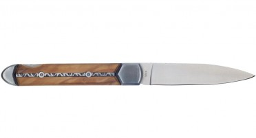 Vendetta knife - decorated olive handle