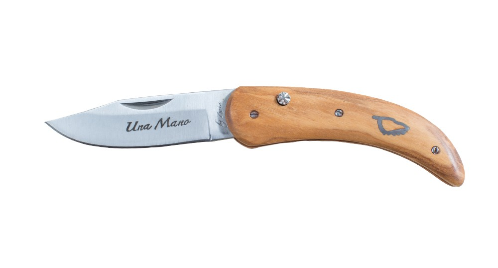 Corsican knife Una Mano by Zuria in Olive - 17 cm model