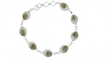 Bracelet Corsica with eye of Shiva in shape of small ovals - Silver