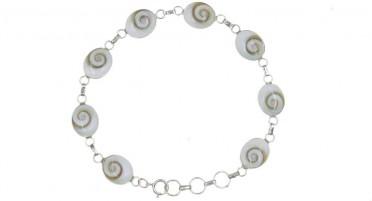 Bracelet Corse avec œil de Shiva en forme de petits ovales - Argent