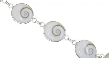Bracelet Corse avec œil de Shiva ovale - Argent