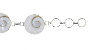 Bracelet Corsica with eye of Shiva round - Silver