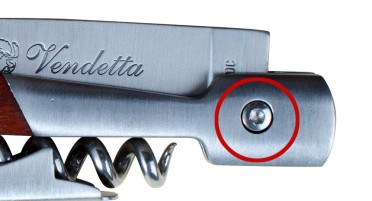 Couteau Vendetta en Arbousier avec Tire-bouchon et système de sécurité