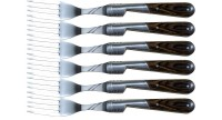 Set of 6 Brown Stamina forks