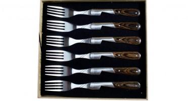 Coffret de 6 fourchettes en Stamina gris