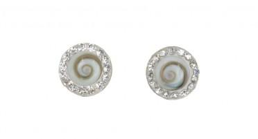 Boucles d'oreilles Shiva et strass