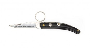Couteau à anneau avec manche en bois de noyer
