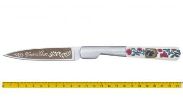 Couteau Vendetta Corsa avec manche décoré de fleurs
