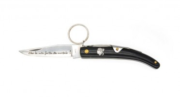 Ring knife with handle in buffalo horn