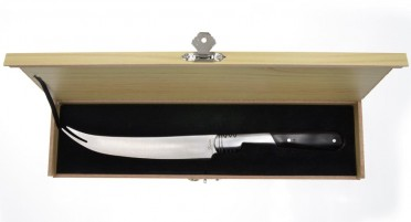 Cheese knife with walnut handle