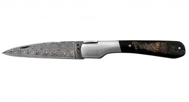 Vendetta Zuria knife in Buffalo Horn and Damascus blade