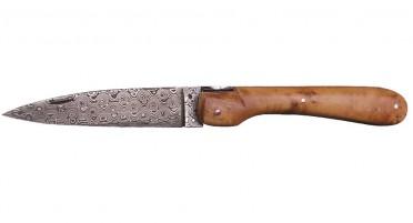 Vendetta Zuria Damascus juniper knife - Full handle